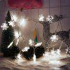 2M 20-LED Snowflake Lights Battery Powered String Lights for Christmas Decoration - WHITE LIGHT