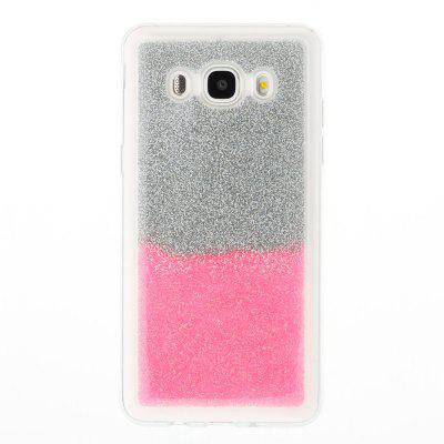 Flash Powder Painted  Two-Color TPU Phone Case for Samsung Galaxy J5 2016 mercury goospery flash powder gel tpu cases cover for iphone se 5s 5 rose
