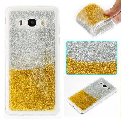 Flash Powder Painted  Two-Color TPU Phone Case for Samsung Galaxy J5 2016