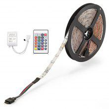 ZDM Waterproof 5M 24W 300 2835SMD RGB LED Strip Light with 24-Key IR Remote Controller Kit