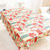 XM 1PCS Christmas Creative Tablecloth Fabrics Christmas Flower Patter Holiday Decorations RED