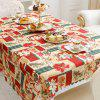 XM 1PCS Christmas Creative Tablecloth Fabrics Christmas Flower Patter Holiday Decorations - RED
