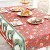 XM 1PCS Christmas Creative Tablecloth Fabrics Christmas Wreath Patter Holiday Decorations RED