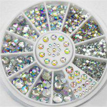 4 Size 300pcs Nail Art Tips Crystal Glitter Rhinestone Decoration