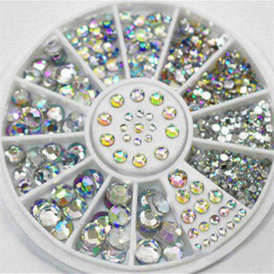 4 Taglia 300pcs Nail Art Tips Cristallo Glitter Rhinestone Decorazione