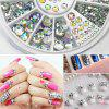 4 Size 300pcs Nail Art Tips Crystal Glitter Rhinestone Decoration - MULTI COLOR