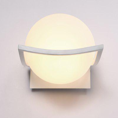 Brightness Glass Metal Base Cap Bedroom Wall Light Fixture