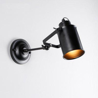 Brightness Max 60W Vintage Black Metal Loft Wall Lamp