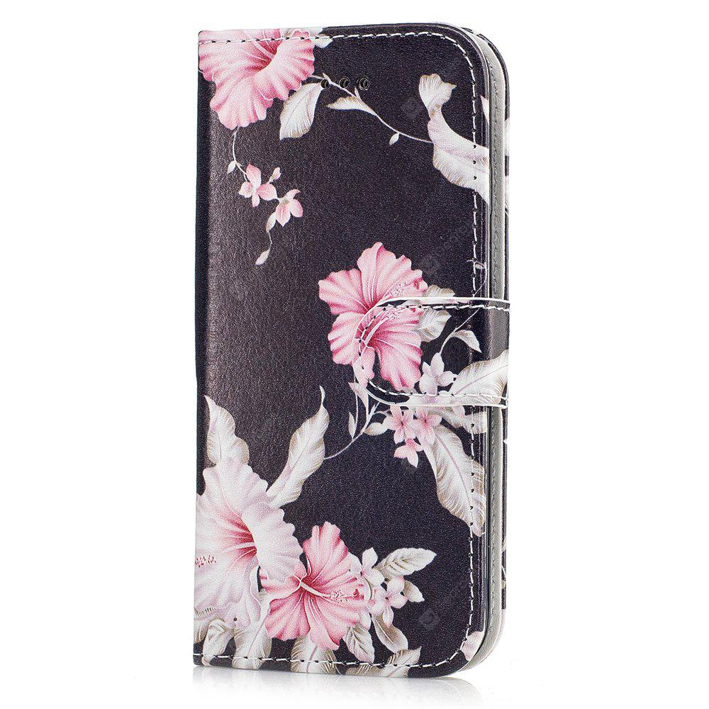 Wkae Marble Portefeuille en cuir Stand Case Cover pour iPhone 7/8