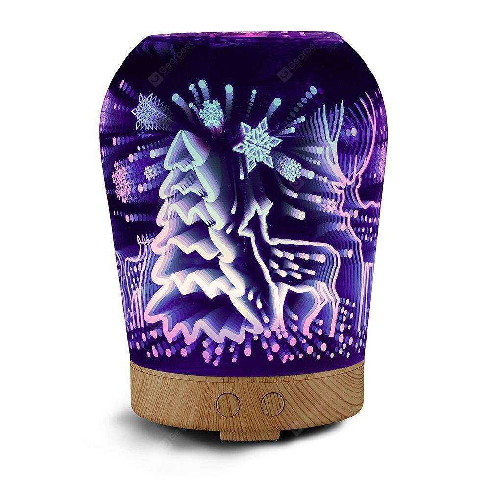 WOOD GRAIN BSW 3D05 Latest Design 3D Effect Glass LED Light Air Conditioning Christmas Gift Electric Aroma Diffuser