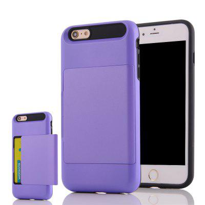 Impact Resistant Protective Shell Wallet Cover Shockproof Rubber Bumper Case Anti scratches Hard Cover Skin Card Slot Holder for iPhone 6 / 6S