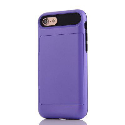 Impact Resistant Protective Shell Wallet Cover Shockproof Rubber Bumper Case Anti scratches Hard Cover Skin Card Slot Holder for iPhone 7 purple fashionable leopard leather skin hard cover for iphone 5c