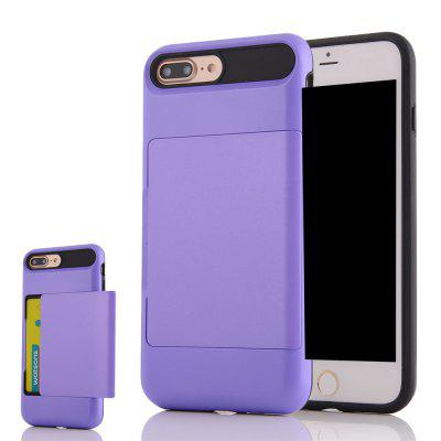 Impact Resistant Protective Shell Wallet Cover Shockproof Rubber Bumper Case Anti scratches Hard Cover Skin Card Slot Holder for iPhone 7 Plus
