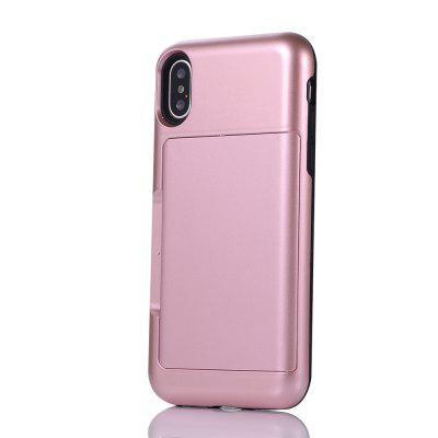 Impact Resistant Protective Shell Wallet Cover Shockproof Rubber Bumper Case Anti scratches Hard Cover Skin Card Slot Holder for iPhone X purple fashionable leopard leather skin hard cover for iphone 5c