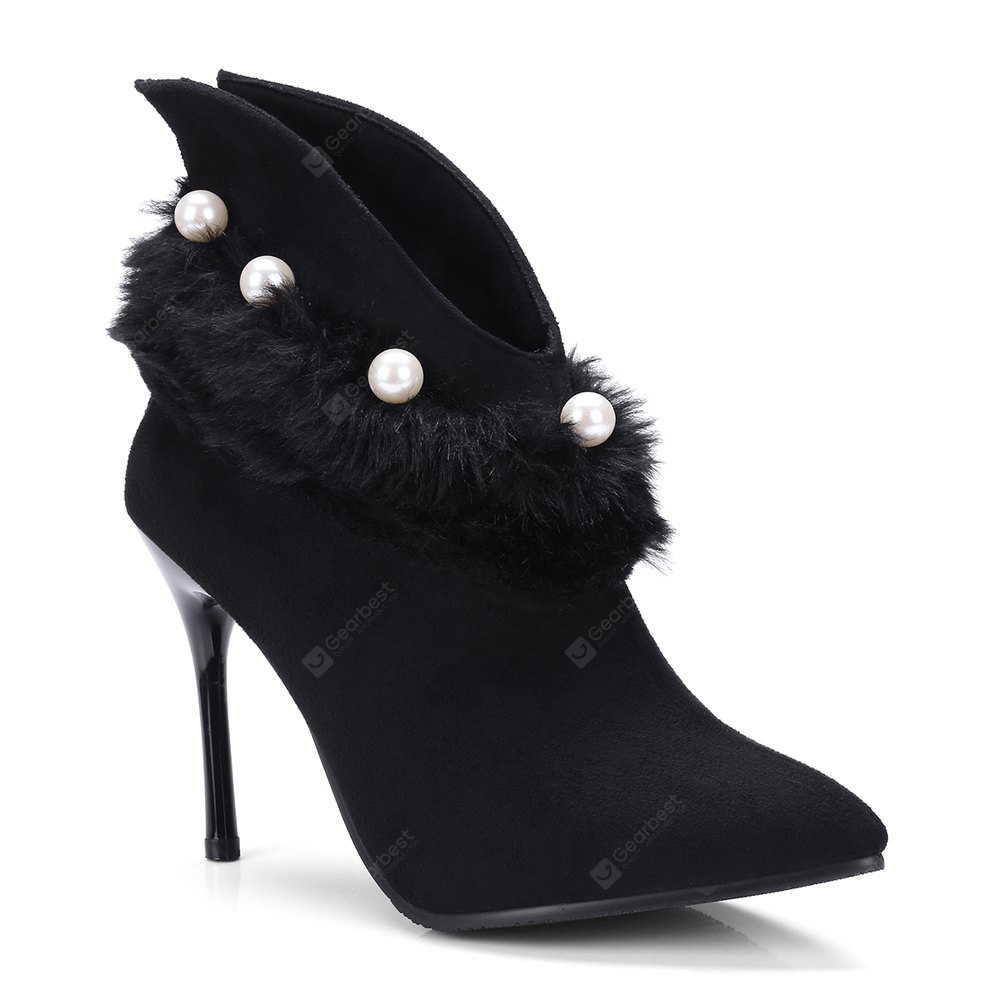 Female Ankle Boots Sweet Style Pointed Toe Trendy Shoes