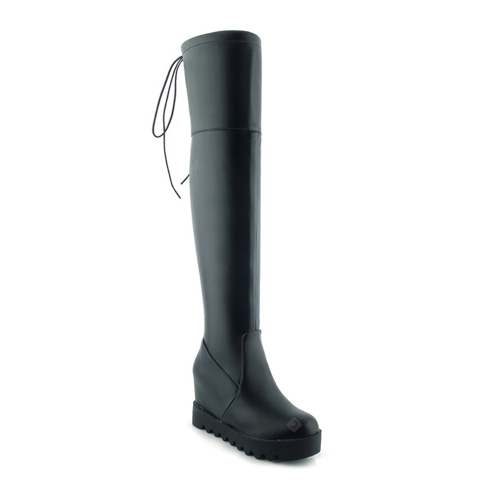Women's above Knee Boots Simple Style All Match Boots
