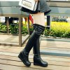 Women's above Knee Boots Simple Style All Match Boots - BLACK