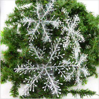 WS 30PCS/SET Snow Flakes White Snowflake Ornaments Holiday Tree Decortion Festival Party Home DéCor Christmas