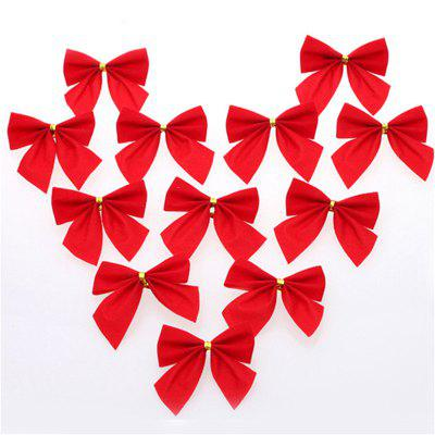 WS 12PCS Christmas Bow Decoration Home Decoration Party Garden Pendant