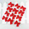 WS 12PCS Christmas Bow Decoration Home Decoration Party Garden Pendant - AMERICAN BEAUTY