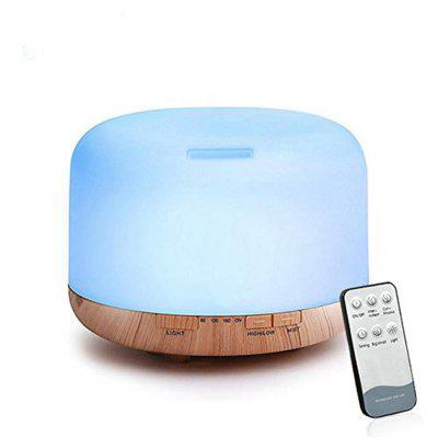 Buy WOOD COLOR 02249YK Remote Control Essential Oil Diffuser Ultrasonic Aroma Cool Mist Humidifier with 7 Color Light Changing 4 Timer Settings (500ml Wood) for $24.99 in GearBest store