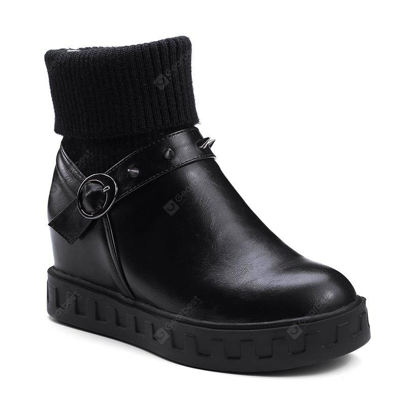 Comfortable Xueyuanfeng Simple Short Tube Head Flat with Boots