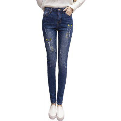 Joker Ripped Denim Jeans Jeans Femminile