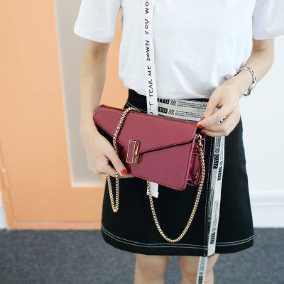 Fashion Leather Chain Small Square Bag with Single Shoulder Bag Female Bag