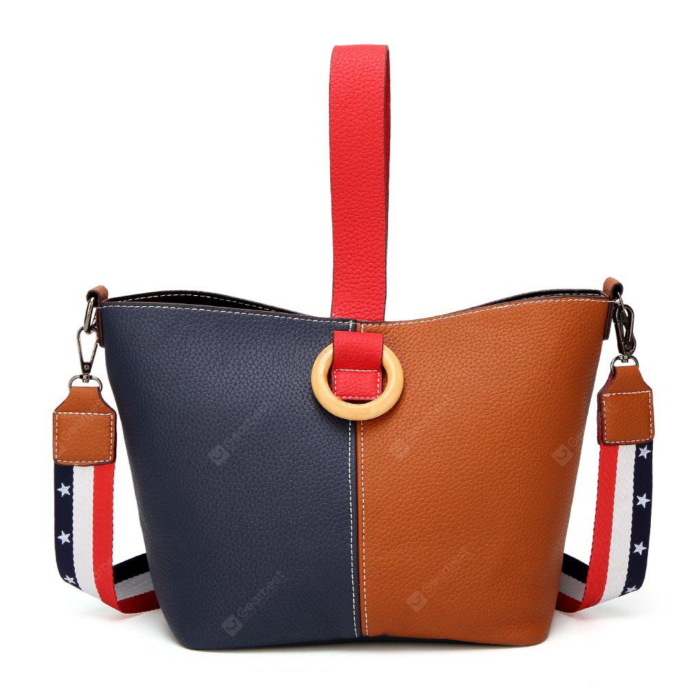 South Korean Edition of Fashion Splicing Women's Bags with Single Shoulder