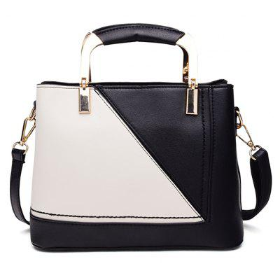 Buy BLACK WHITE Korean Edition Fashion Simple Bag Casual Handbag with A Color Single Shoulder for $26.64 in GearBest store