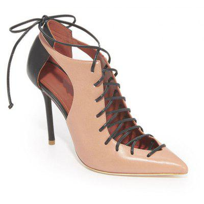 Women's Shoes Gladiator Basic Pump Heels Stiletto Heel Pointed Toe Split Joint Lace-Up