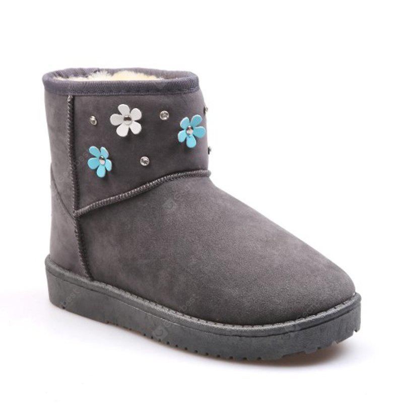 Ms. Flowers and Warm Velvet Snow Boots