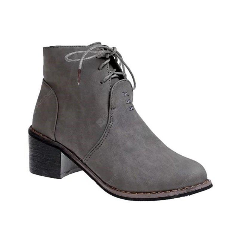YQ-W1298 Comfort All-Match with Coarse Lace with Female Boots Short Boots Martin Boots