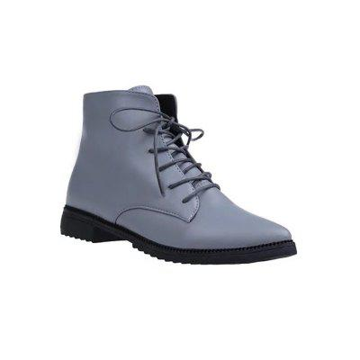 A72 with Low Fashion Lace Up Boots Martin Pointed Boots