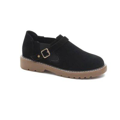 Buy BLACK 36 W-Y6 Round Buckle Buckle Fashion Women'S Sole Shoes for $28.36 in GearBest store
