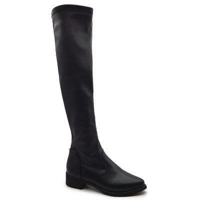 ZLL-1138 Thick with BIKER BOOTS SHOES Comfortable Knee Boots High Boots