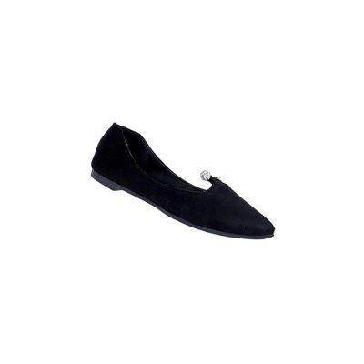 YQ-W019 Pointed Side Empty Shallow Mouth of A Pedal Shoes Slip-On