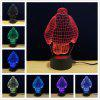 M.Sparkling TD091 Creative Superhero 3D LED Lamp - COLORFUL