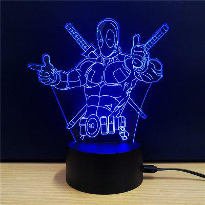 M.Sparkling TD112 Creative Superhero 3D LED Lamp