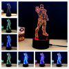 M.Sparkling TD269 Creative Superhero 3D LED Lamp - COLORFUL