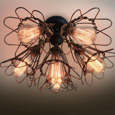 C6005 Metal Steampunk Flower Cages Chandelier