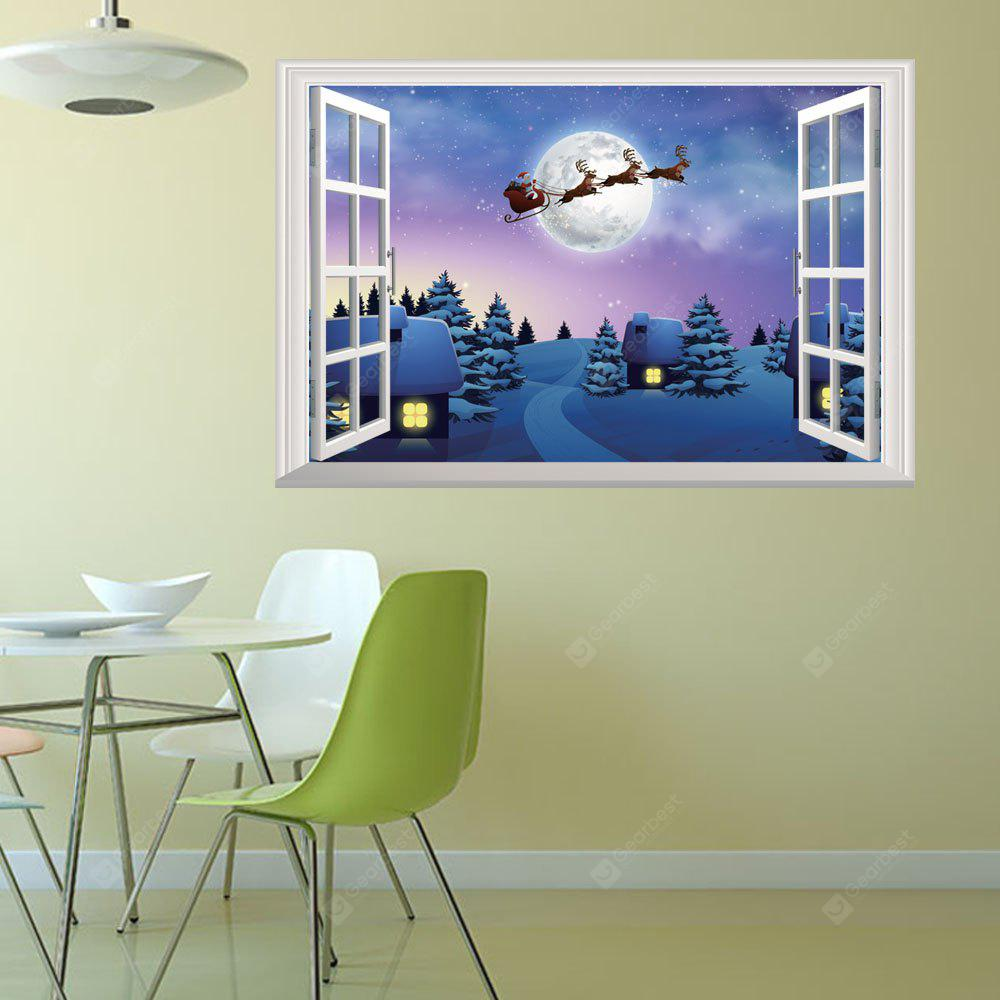 2018 New Christmas Stickers 3D Window Home Decal, COLORMIX, Home & Garden, Home Decors, Wall Art, Wall Stickers