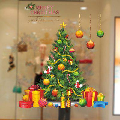 Buy COLORMIX Christmas Tree Vinyl Removable Wall Sticker for $4.31 in GearBest store
