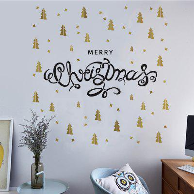 Christmas Home Decal  Golden Double Color DIY Art Stickers