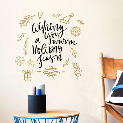 Buy Merry Christmas Wall sticker Wishing You A Warm Holiday Season Vinyl Wall Decals, COLORMIX, Home & Garden, Home Decors, Wall Art, Wall Stickers for $3.03 in GearBest store