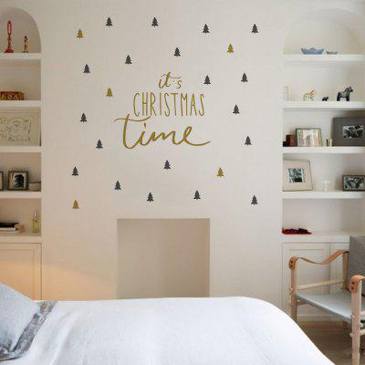 Buy New Christmas Wall Stickers Christmas Tree Double Color DIY Posters, COLORMIX, Home & Garden, Home Decors, Wall Art, Wall Stickers for $3.31 in GearBest store
