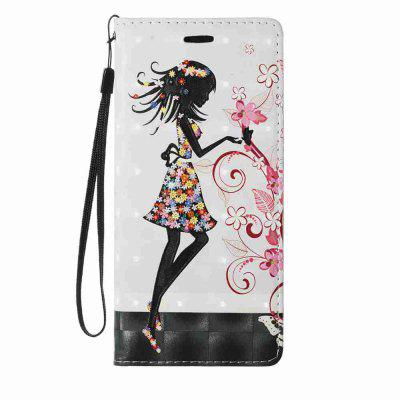 New Style Magnetic 3D Embossed Painted Pu Phone Case for Samsung Galaxy Note 8