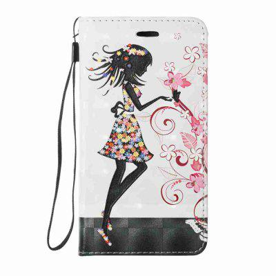 New Style Magnetic 3D Embossed Painted Pu Phone Case for Samsung Galaxy J530