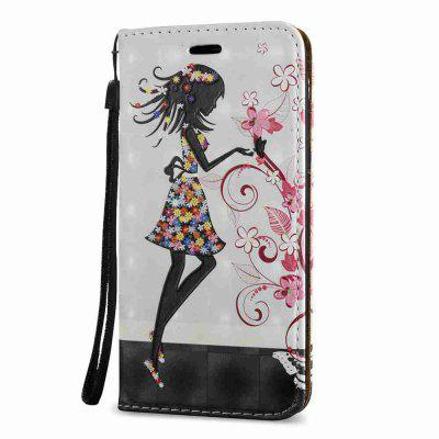 New Style Magnetic 3D Embossed Painted Pu Phone Case for Samsung Galaxy J7 2017