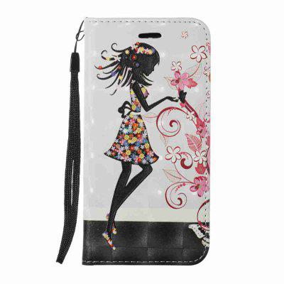 New Style Magnetic 3D Embossed Painted Pu Phone Case  for LG K8 2017